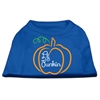 Mirage Pet Products Lil Punkin Screen Print Dog Shirt Blue XS (8)