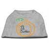 Mirage Pet Products Lil Punkin Screen Print Dog Shirt Grey XS (8)