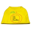 Mirage Pet Products Lil Punkin Screen Print Dog Shirt Yellow XS (8)