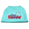 Mirage Pet Products Little Firecracker Screen Print Shirts Aqua S (10)