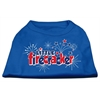 Mirage Pet Products Little Firecracker Screen Print Shirts Blue XS (8)