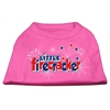 Mirage Pet Products Little Firecracker Screen Print Shirts Bright Pink XS (8)