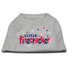 Mirage Pet Products Little Firecracker Screen Print Shirts Grey XL (16)