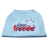 Mirage Pet Products Little Firecracker Screen Print Shirts Baby Blue XXXL(20)