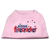 Mirage Pet Products Little Firecracker Screen Print Shirts Light Pink XS (8)