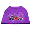 Mirage Pet Products Little Firecracker Screen Print Shirts Purple S (10)