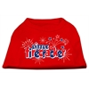 Mirage Pet Products Little Firecracker Screen Print Shirts Red XS (8)