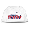 Mirage Pet Products Little Firecracker Screen Print Shirts White XL (16)
