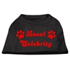 Mirage Pet Products Local Celebrity Screen Print Shirts Black  XS (8)