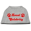 Mirage Pet Products Local Celebrity Screen Print Shirts Grey XS (8)