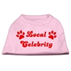 Mirage Pet Products Local Celebrity Screen Print Shirts Pink XS (8)