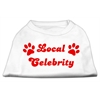 Mirage Pet Products Local Celebrity Screen Print Shirts White Sm (10)