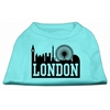Mirage Pet Products London Skyline Screen Print Shirt Aqua Lg (14)