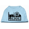 Mirage Pet Products London Skyline Screen Print Shirt Baby Blue XS (8)