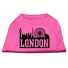Mirage Pet Products London Skyline Screen Print Shirt Bright Pink XL (16)