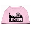 Mirage Pet Products London Skyline Screen Print Shirt Light Pink XS (8)