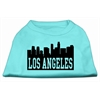 Mirage Pet Products Los Angeles Skyline Screen Print Shirt Aqua Lg (14)