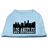Mirage Pet Products Los Angeles Skyline Screen Print Shirt Baby Blue XS (8)