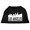 Mirage Pet Products Los Angeles Skyline Screen Print Shirt Black XS (8)