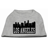 Mirage Pet Products Los Angeles Skyline Screen Print Shirt Grey XS (8)