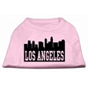 Mirage Pet Products Los Angeles Skyline Screen Print Shirt Light Pink XS (8)