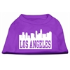 Mirage Pet Products Los Angeles Skyline Screen Print Shirt Purple Lg (14)