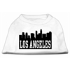 Mirage Pet Products Los Angeles Skyline Screen Print Shirt White Sm (10)