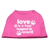Mirage Pet Products Love is a Four Leg Word Screen Print Shirt Bright Pink Med (12)