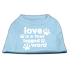 Mirage Pet Products Love is a Four Leg Word Screen Print Shirt Baby Blue XXXL (20)