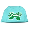 Mirage Pet Products Lucky Swoosh Screen Print Shirt Aqua XS (8)