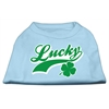 Mirage Pet Products Lucky Swoosh Screen Print Shirt Baby Blue Med (12)