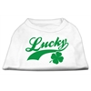 Mirage Pet Products Lucky Swoosh Screen Print Shirt White  XS (8)