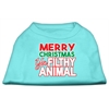 Mirage Pet Products Ya Filthy Animal Screen Print Pet Shirt Aqua XL (16)