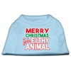 Mirage Pet Products Ya Filthy Animal Screen Print Pet Shirt Baby Blue Sm (10)