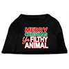 Mirage Pet Products Ya Filthy Animal Screen Print Pet Shirt Black Sm (10)