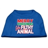 Mirage Pet Products Ya Filthy Animal Screen Print Pet Shirt Blue XS (8)