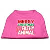 Mirage Pet Products Ya Filthy Animal Screen Print Pet Shirt Bright Pink XL (16)