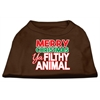 Mirage Pet Products Ya Filthy Animal Screen Print Pet Shirt Brown Lg (14)