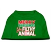 Mirage Pet Products Ya Filthy Animal Screen Print Pet Shirt Emerald Green XXL (18)