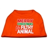Mirage Pet Products Ya Filthy Animal Screen Print Pet Shirt Orange XXXL (20)