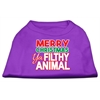 Mirage Pet Products Ya Filthy Animal Screen Print Pet Shirt Purple XS (8)
