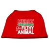 Mirage Pet Products Ya Filthy Animal Screen Print Pet Shirt Red Med (12)