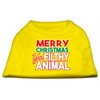 Mirage Pet Products Ya Filthy Animal Screen Print Pet Shirt Yellow Med (12)
