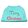 Mirage Pet Products Merry Christmas Screen Print Shirt Aqua XS (8)