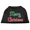 Mirage Pet Products Merry Christmas Screen Print Shirt Black  XS (8)