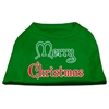Mirage Pet Products Merry Christmas Screen Print Shirt Emerald Green XS (8)