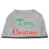 Mirage Pet Products Merry Christmas Screen Print Shirt Grey XS (8)