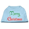 Mirage Pet Products Merry Christmas Screen Print Shirt Baby Blue Med (12)