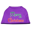 Mirage Pet Products Merry Christmas Screen Print Shirt Purple XS (8)