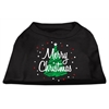 Mirage Pet Products Scribbled Merry Christmas Screenprint Shirts  Black XXL (18)